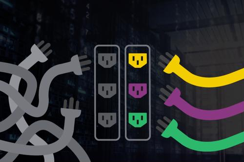 Manage your power infrastructure more effectively with color-coded PDUs.