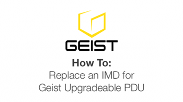 How to: replace an IMD for Geist Upgradeable PDU