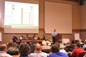 Matt Lane interviews a panel of data center managers at the Geist DCiM Symposium