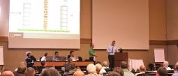 Matt Lane interviews a panel of data center managers at the Geist DCiM Symposium